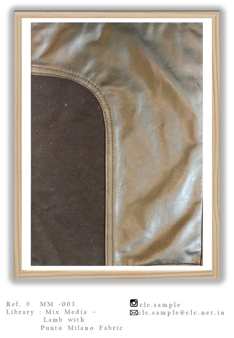 Leather Mixed With Italian Knit
