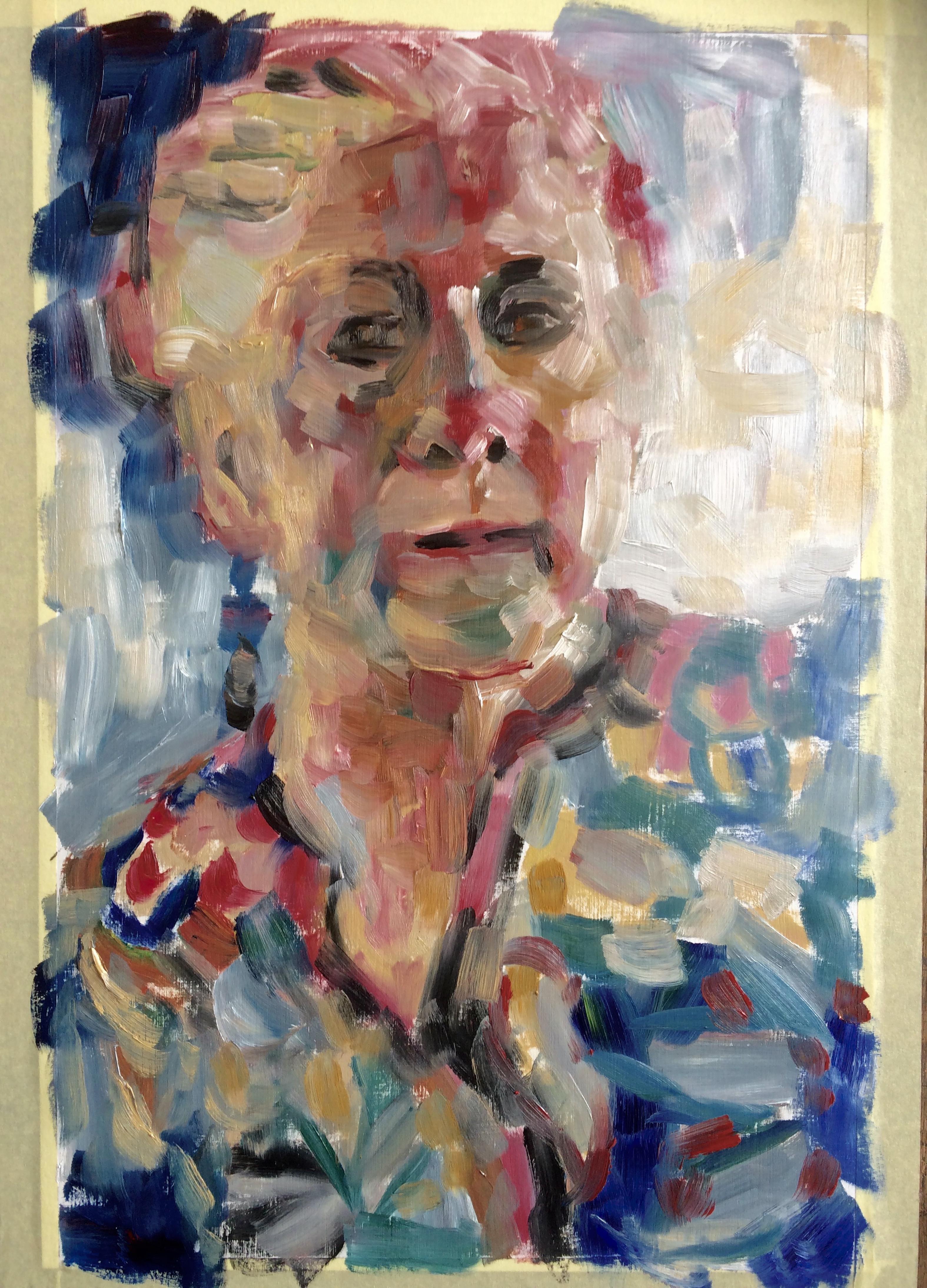 schets zelfportret