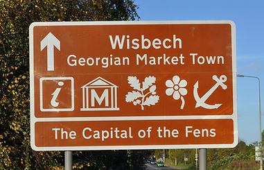 A picture of our Wisbech town sign