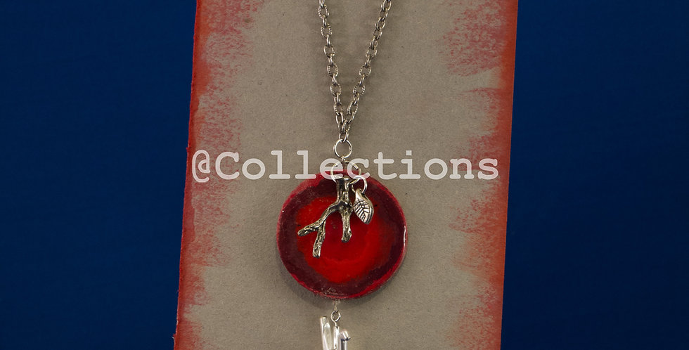 red branch sandpaper paper necklace
