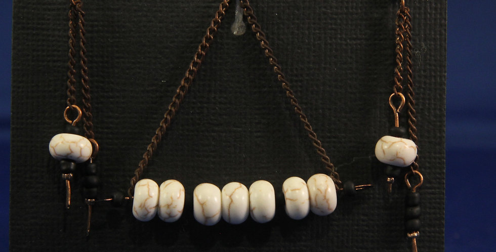 white bead bar