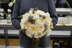 White Fall Bridal Bouquet