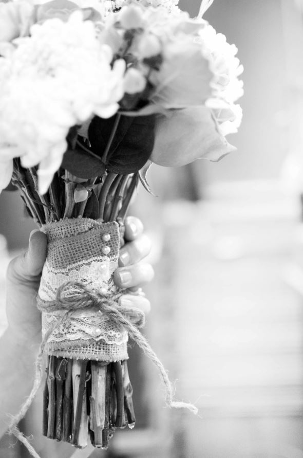 Rustic Bridal Bouquet Wrap