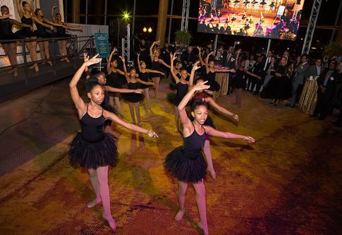 Brown Ballerinas In Action
