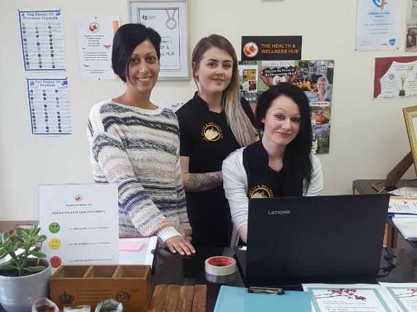 Staff from Health and Wellness Hub