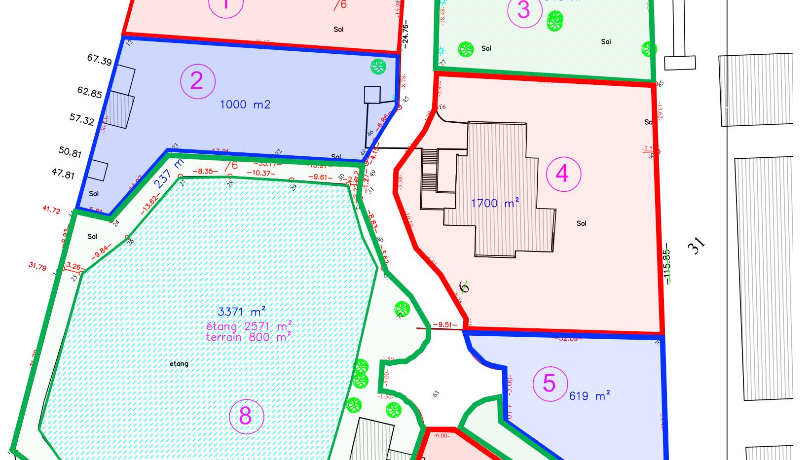 ECOPARC - 7 Lots de Terrains en zone d'activité dans un cadre de verdure exceptionnel
