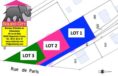Lot 2 : Terrain de 6,87 ares. Plein Sud 68200 Attenschwiller