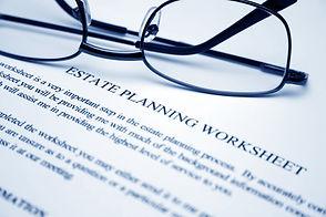 Estate planning worksheet