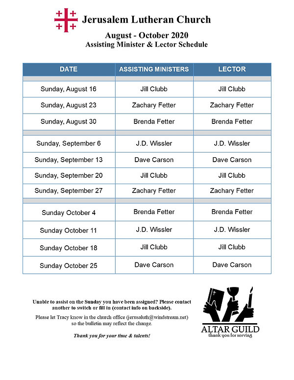 Aug- Oct 2020 Worship Leaders Schedule.j