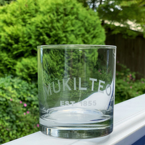 Etched Mukilteo Glasses