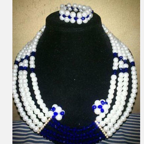 Pearls with Colour (showing in Blue)