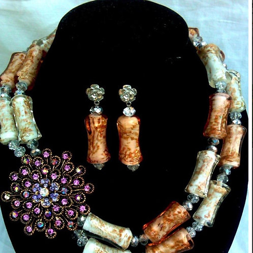 Long bead jewellery set