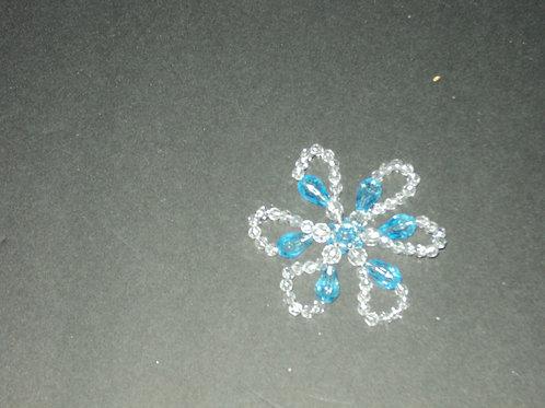 Frost blue flower
