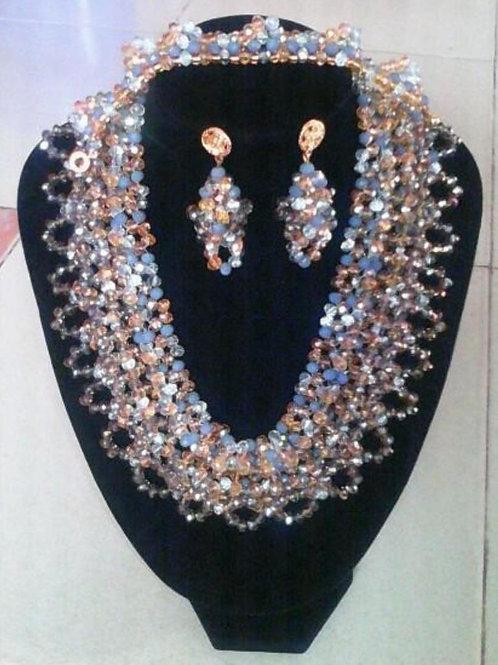 Beaded Collar Jewellery Set