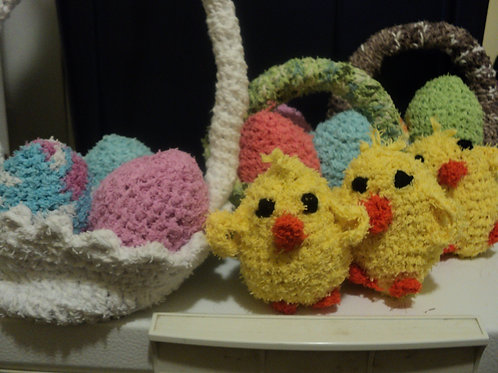 Easter Scrubber Fun