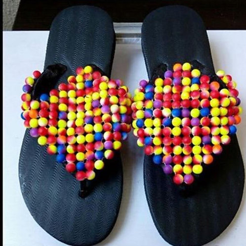 Multi coloured slipper