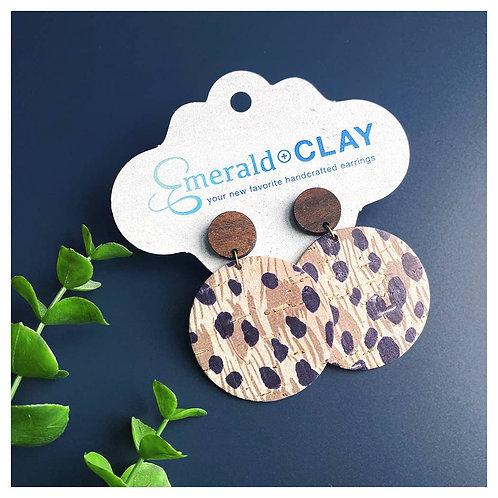 Acrylic Circle with Wood Post - Cheetah