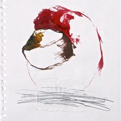 RICE BOWL_ 2003 Ecoline e grafite s/ papel 31x21 cm