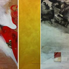 BEIJING_ 2011 Técnica mista s/ madeira e tela 120x260 cm (Coleção privada)