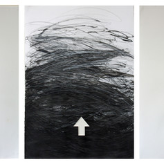 THE ONLY WAY IS UP_ 2015 Técnica mista sobre papel 70x150 cm (tríptico)