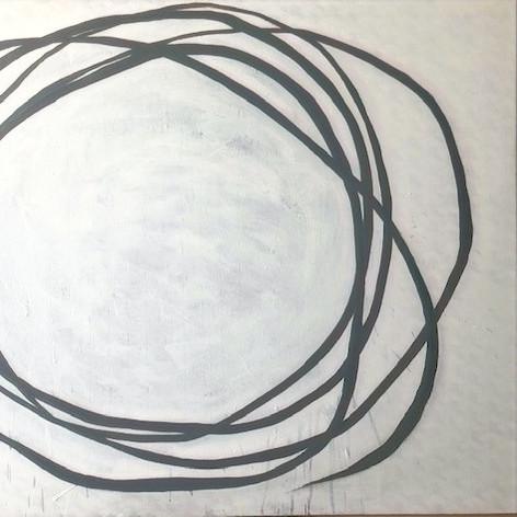 SEM PRINCIPIO_ 2019 Acrilico s/tecido de decoração 70x100 cm