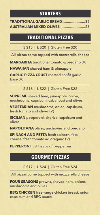 Allambie Pizza Shop | Menu