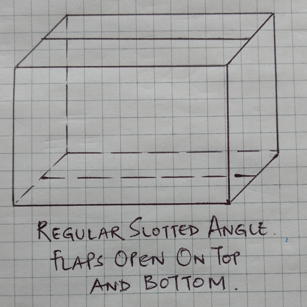 Regular Slotted Angle Carton