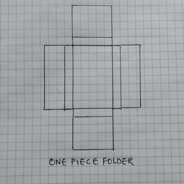 One Piece Folder Carton