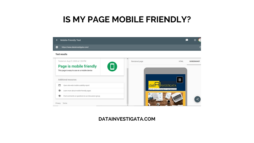 How can I find if my webpage is mobile-friendly using Google Search Console?