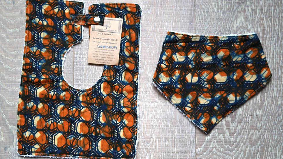 2 Bib Set (orange-blue)