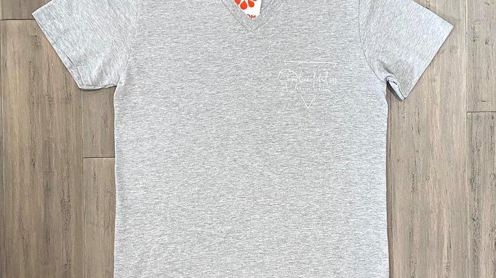 Light-Grey Short Sleeve Shirt