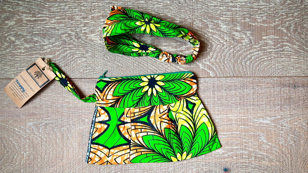 Palm Tree Zippered Clutch Set