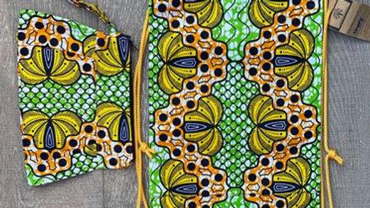 Banana African Print Set