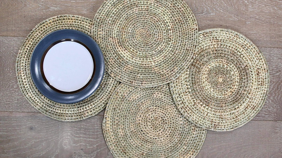 Hand Woven, Organic Coaster Set of 4