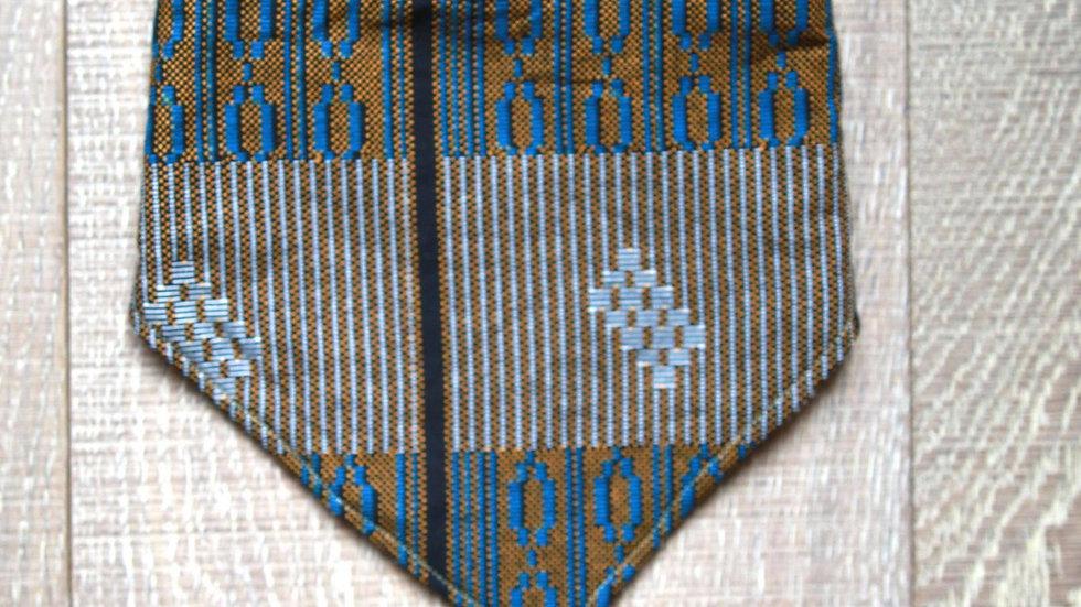 Bandanna Bib (blue-brown)