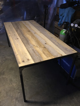 Tafel recup hout & staal