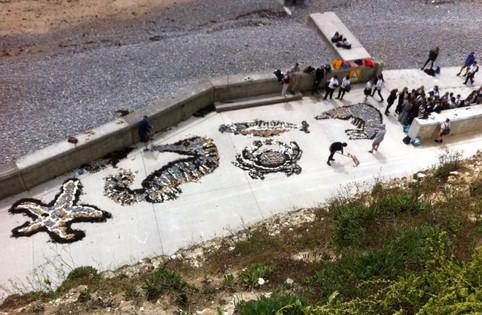 Science/Art Collaboration Marine Life Ovingdean beach