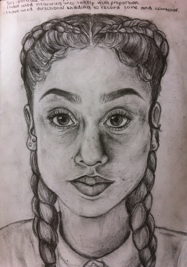Y10 Self Portraits