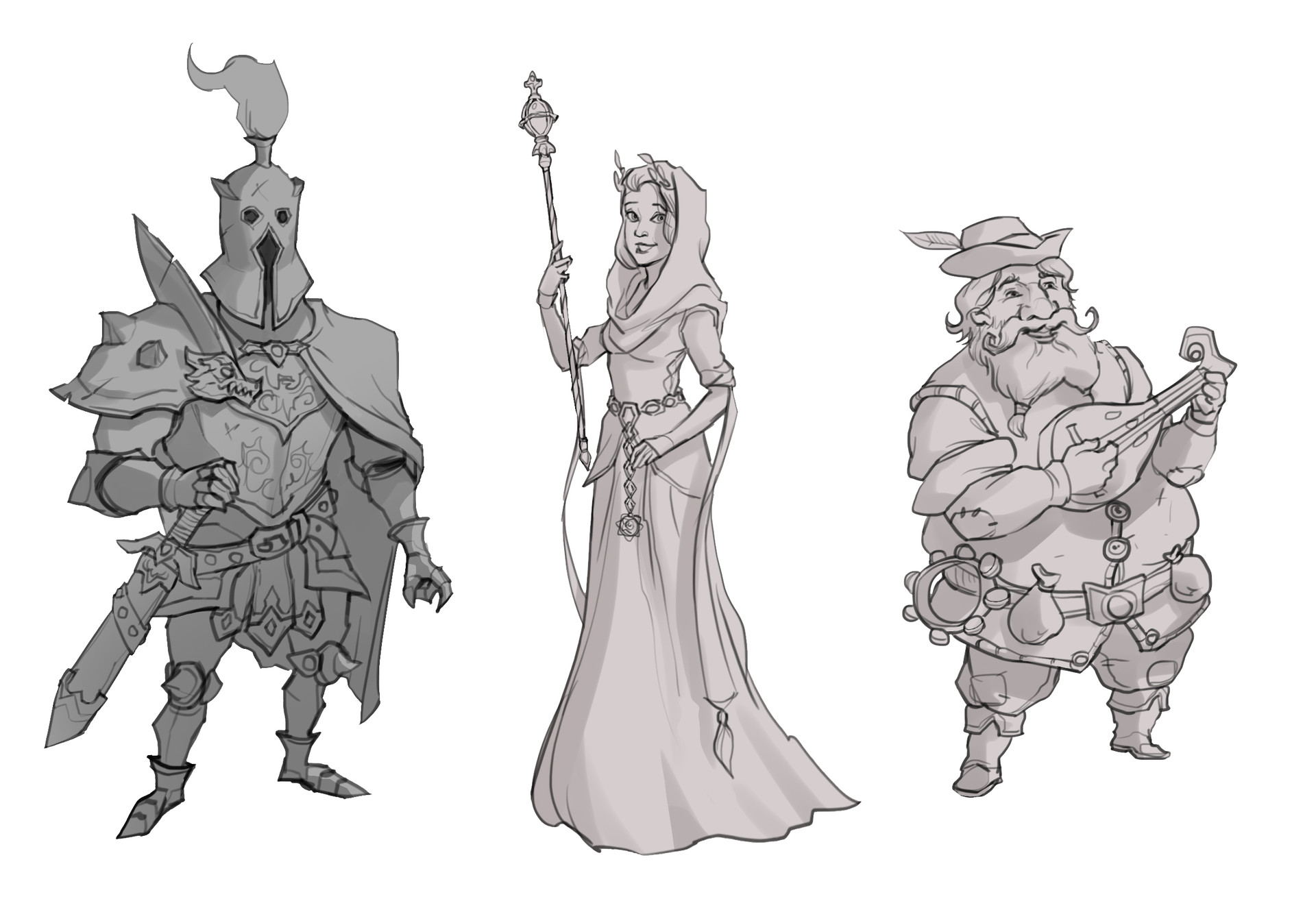 Fantasy characters sketch