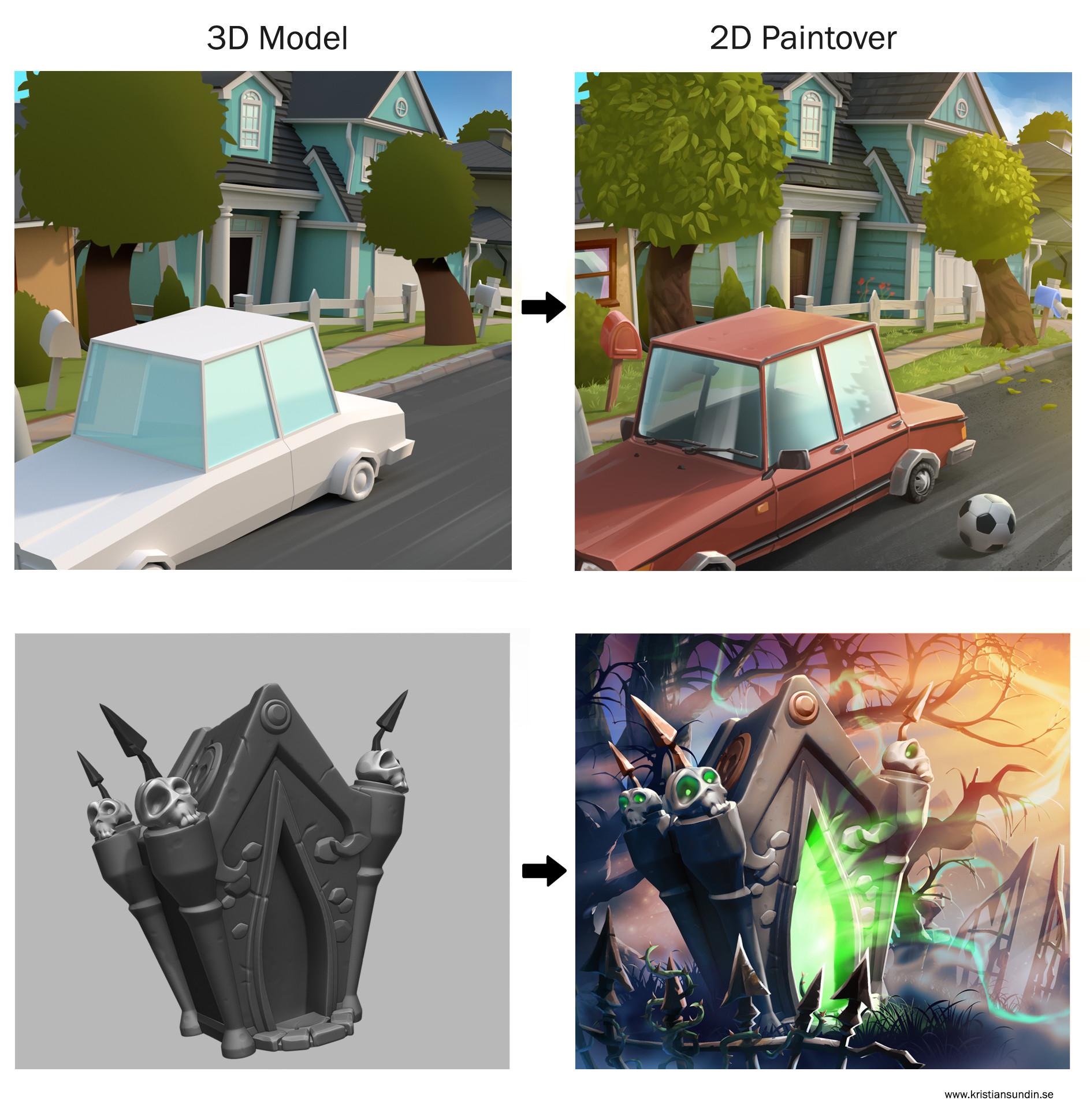3D/2D examples