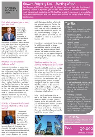 Starting afresh – STL interviews Goward Property Law
