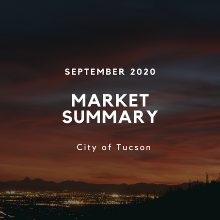 Local Market Insights | City of Tucson | September 2020