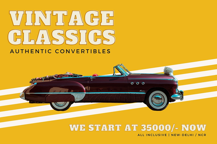 Vintage Cars for Weddings