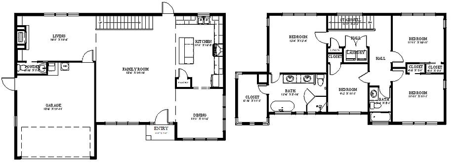 Model 1 Second  Floor 4 Bedroom  w-Tub-2