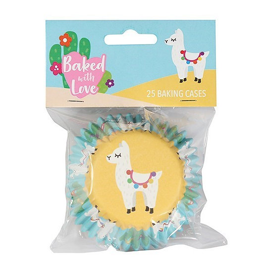 Baked With Love Llama Foil Baking Cupcake Cases