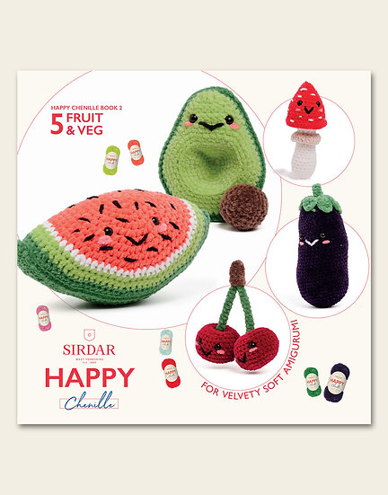 Sirdar Happy Chenille Fruit and Veg Pattern Book