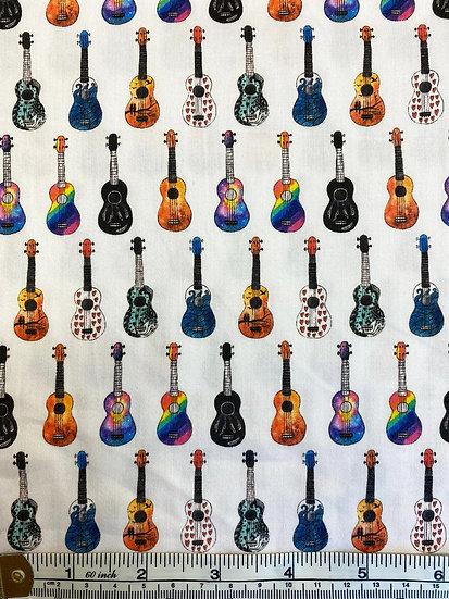 Guitar Cotton Fabric