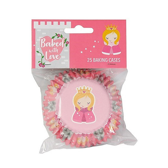 Baked With Love Princess Foil Baking Cupcake Cases