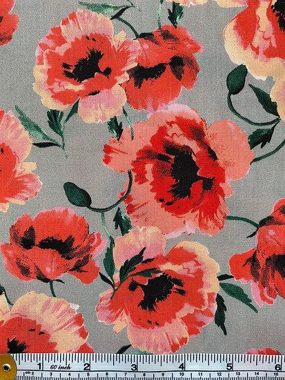 Poppy Array Cotton Fabric