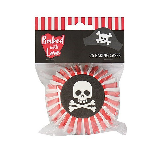 Baked With Love Pirate Foil Baking Cupcake Cases